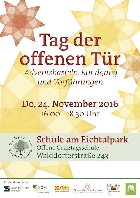 einladung zum tag der offenen tür 2016 | schule am eichtalpark, Einladung